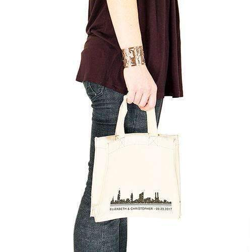 City Style Personalised Tote Bag Mini Tote with Gussets Charcoal (Pack of 1)-Personalized Gifts for Women-Charcoal-JadeMoghul Inc.