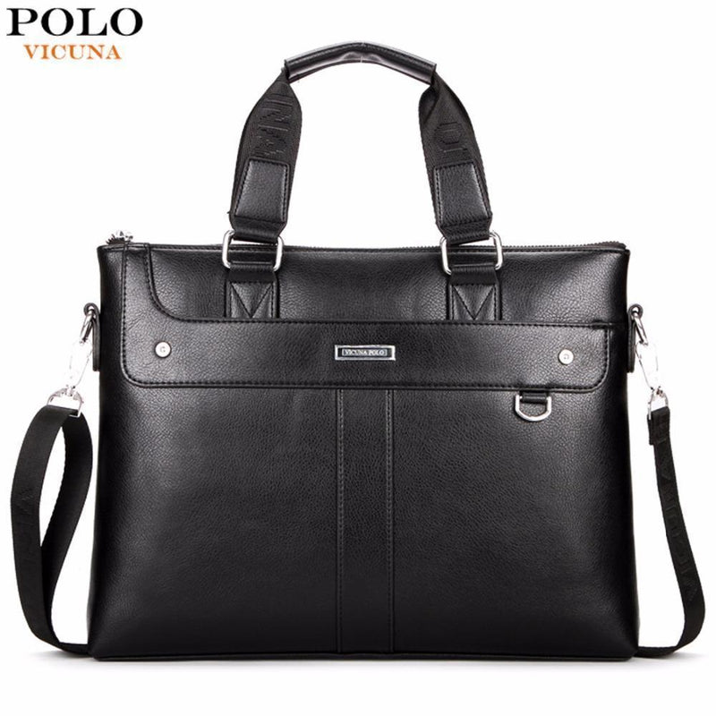 Classic Business Man Briefcase Brand Computer Laptop Shoulder Bag Leather Men's Handbag Messenger Bags Men Bag Hot-Black-China-JadeMoghul Inc.