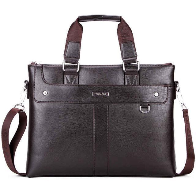 Classic Business Man Briefcase Brand Computer Laptop Shoulder Bag Leather Men's Handbag Messenger Bags Men Bag Hot-Brown-China-JadeMoghul Inc.