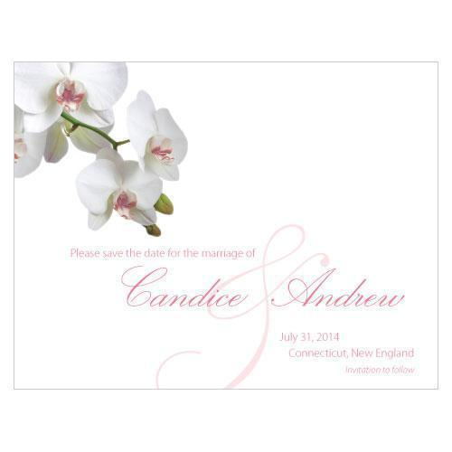 Classic Orchid Save The Date Card Plum (Pack of 1)-Weddingstar-Plum-JadeMoghul Inc.