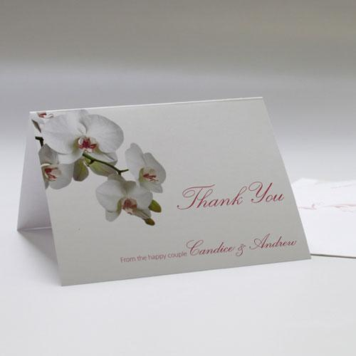 Classic Orchid Thank You Card Plum (Pack of 1)-Weddingstar-Plum-JadeMoghul Inc.