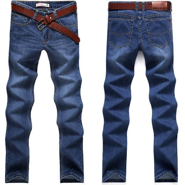 Classic Solid Straight High Quality Jeans-blue111-29-JadeMoghul Inc.