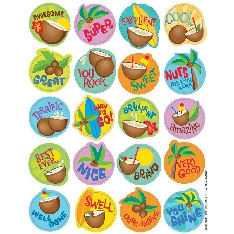 COCONUT SCENTED STICKERS-Learning Materials-JadeMoghul Inc.