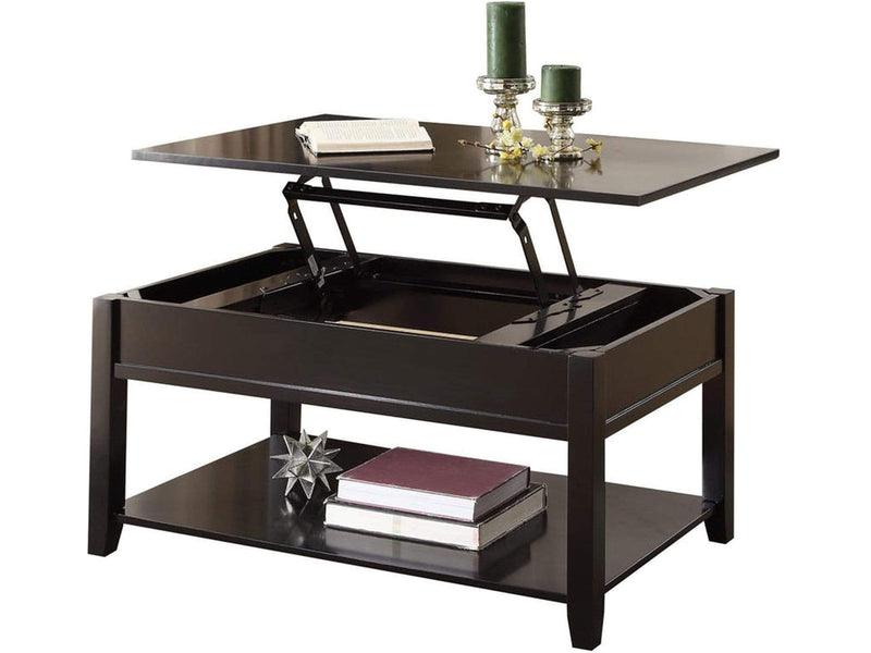Coffee Tables Traditional Looking Coffee Table with Lift Top, Black Benzara