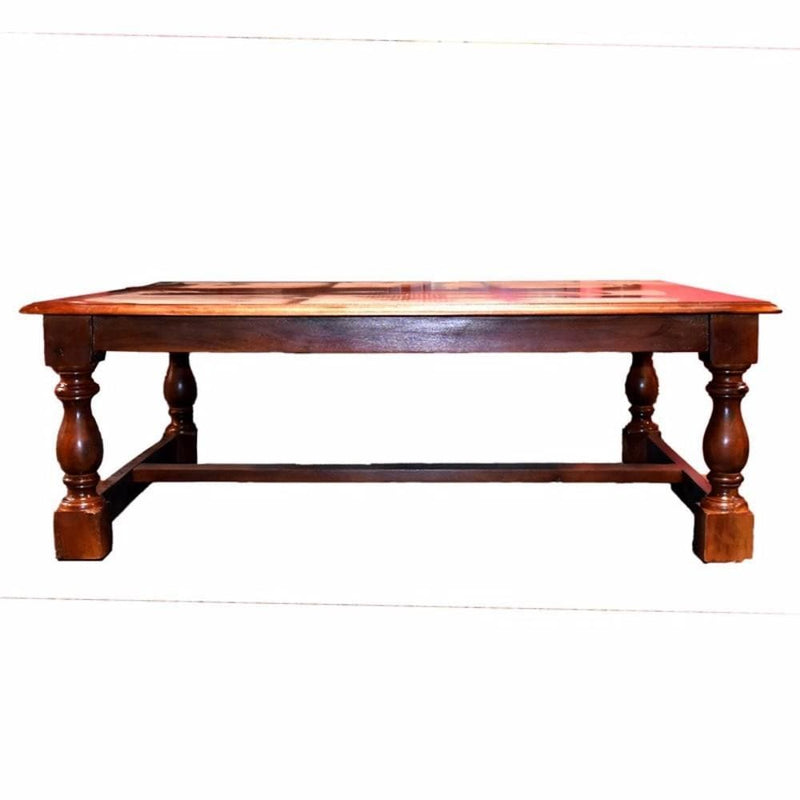 Coffee Tables Traditional Style Wooden Coffee Table, Brown Benzara