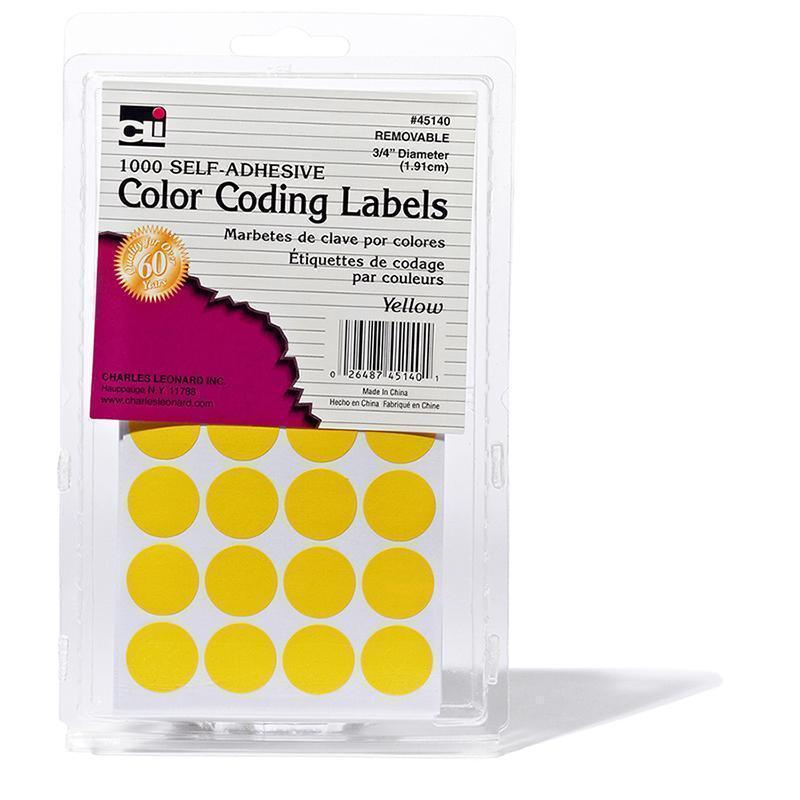 COLOR CODING LABELS YELLOW-Supplies-JadeMoghul Inc.