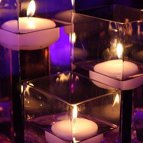 Colored Floating Candles White (Pack of 6)-Wedding Reception Decorations-JadeMoghul Inc.