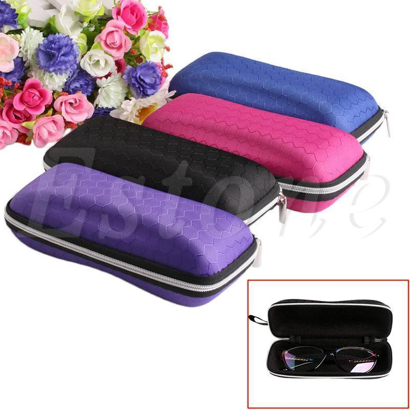 Colorful Cover Sunglasses Case For Women Glasses Box With Lanyard Zipper Eyeglass Cases For Men 4 Colors A19385-Black-JadeMoghul Inc.