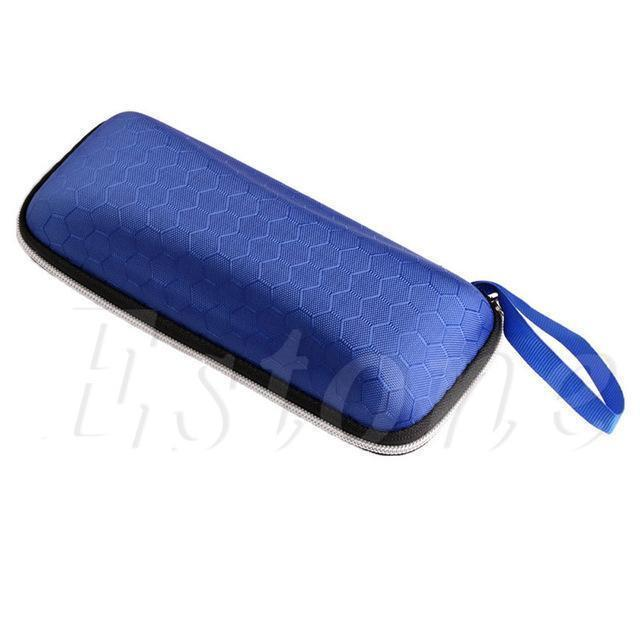 Colorful Cover Sunglasses Case For Women Glasses Box With Lanyard Zipper Eyeglass Cases For Men 4 Colors A19385-Blue-JadeMoghul Inc.