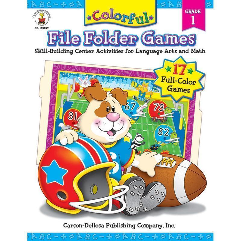 COLORFUL FILE FOLDER GAMES GR 1-Learning Materials-JadeMoghul Inc.