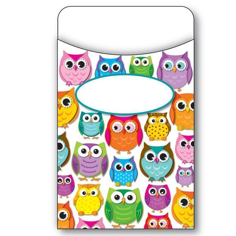 COLORFUL OWLS LIBRARY POCKETS-Learning Materials-JadeMoghul Inc.