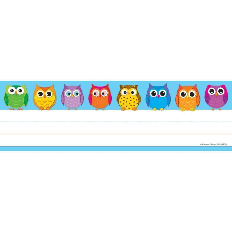 COLORFUL OWLS NAMEPLATES 36CT-Learning Materials-JadeMoghul Inc.