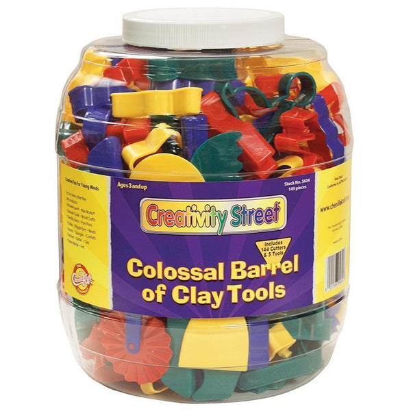 COLOSSAL BARREL OF CLAY TOOLS-Arts & Crafts-JadeMoghul Inc.