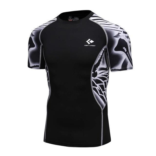 Compression Shirt With Short Sleeves-Model 1-M-JadeMoghul Inc.