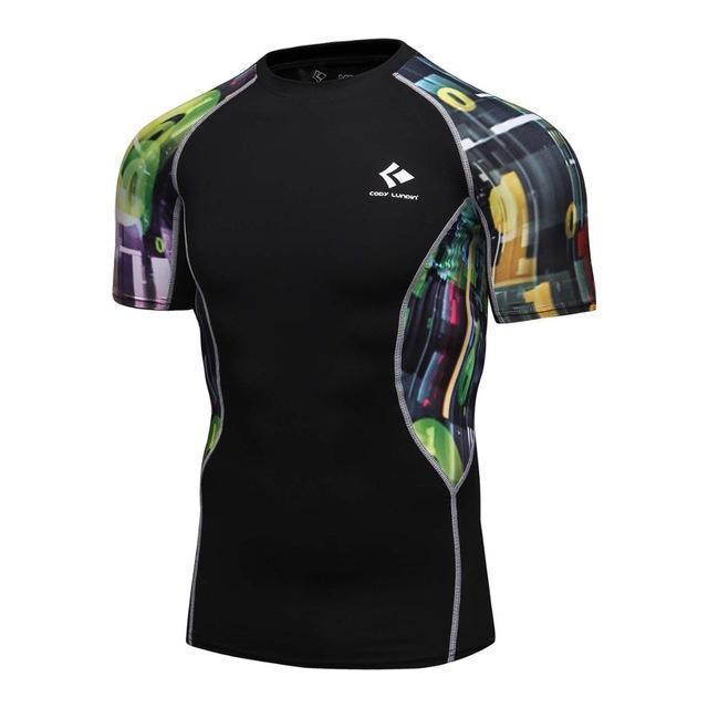 Compression Shirt With Short Sleeves-Model 14-M-JadeMoghul Inc.