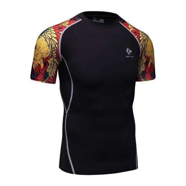 Compression Shirt With Short Sleeves-Model 17-M-JadeMoghul Inc.