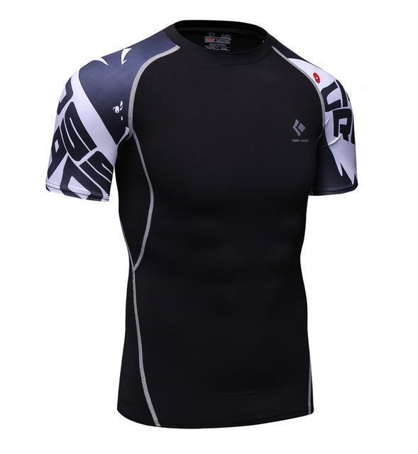 Compression Shirt With Short Sleeves-Model 18-M-JadeMoghul Inc.
