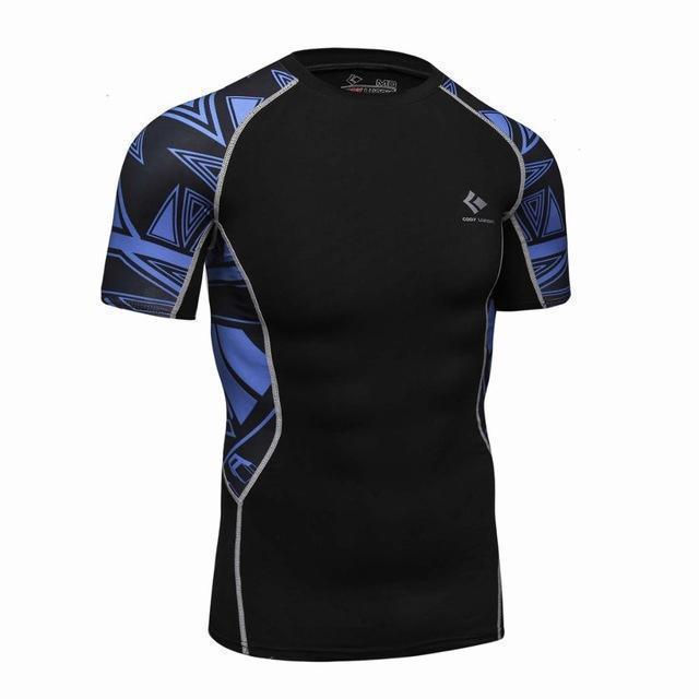 Compression Shirt With Short Sleeves-Model 4-M-JadeMoghul Inc.