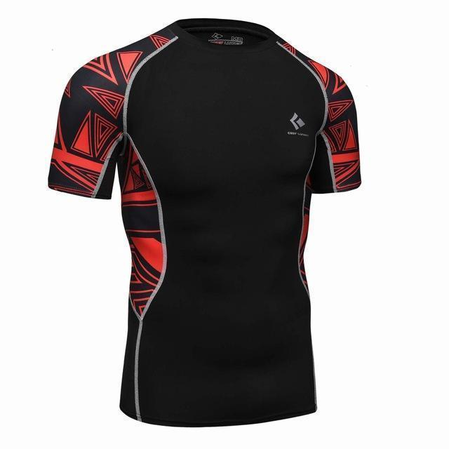 Compression Shirt With Short Sleeves-Model 5-M-JadeMoghul Inc.