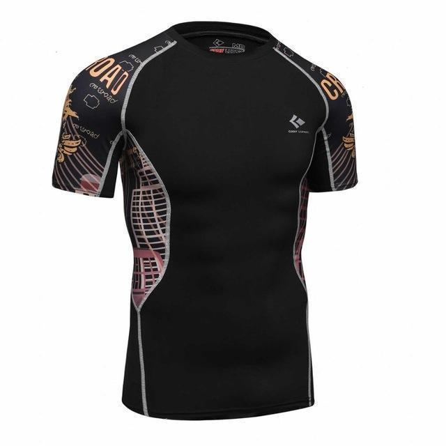Compression Shirt With Short Sleeves-Model 6-M-JadeMoghul Inc.