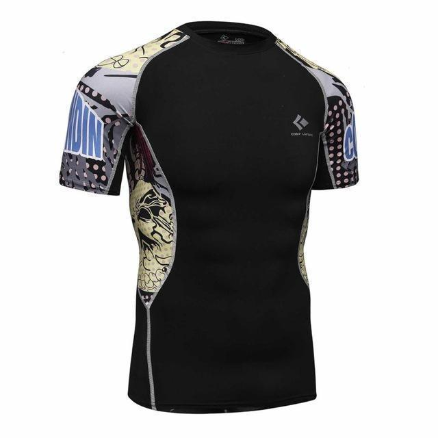 Compression Shirt With Short Sleeves-Model 7-M-JadeMoghul Inc.
