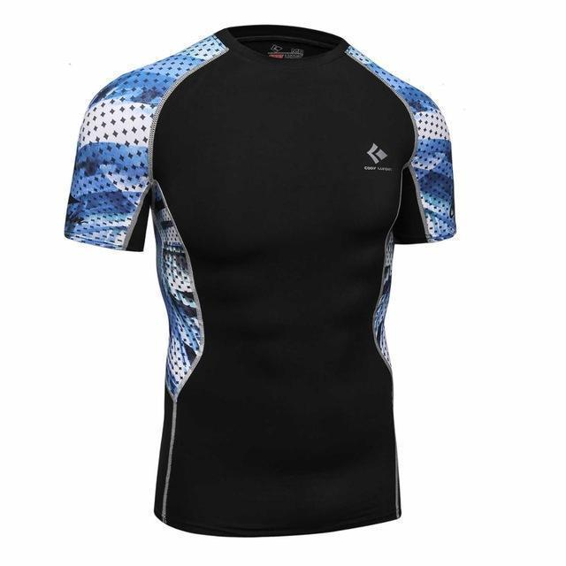 Compression Shirt With Short Sleeves-Model 9-M-JadeMoghul Inc.