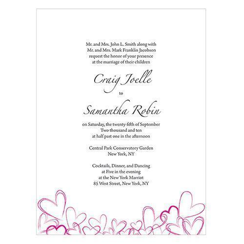 Contemporary Hearts Invitation (Pack of 1)-Invitations & Stationery Essentials-JadeMoghul Inc.