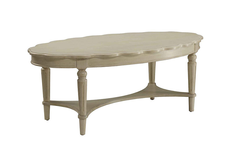 Conventional Coffee Table, Antique White-Coffee Tables-Antique White-MDF Solid Wood Leg-JadeMoghul Inc.