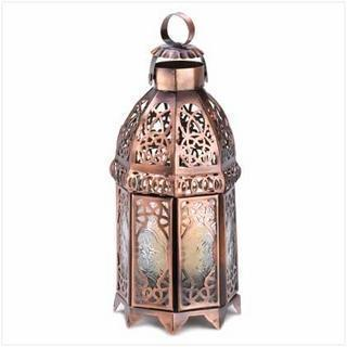 COPPER MOROCCAN CANDLE LAMP-Seasonal Merchandise/Gifts-JadeMoghul Inc.