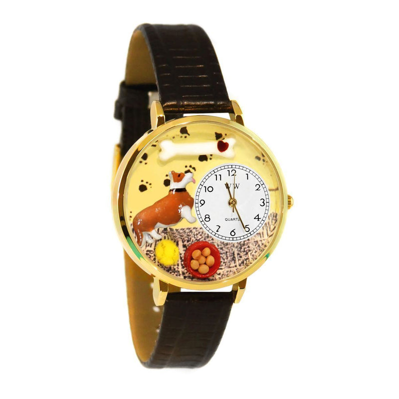 Corgi Watch in Gold (Large)-Watch-JadeMoghul Inc.