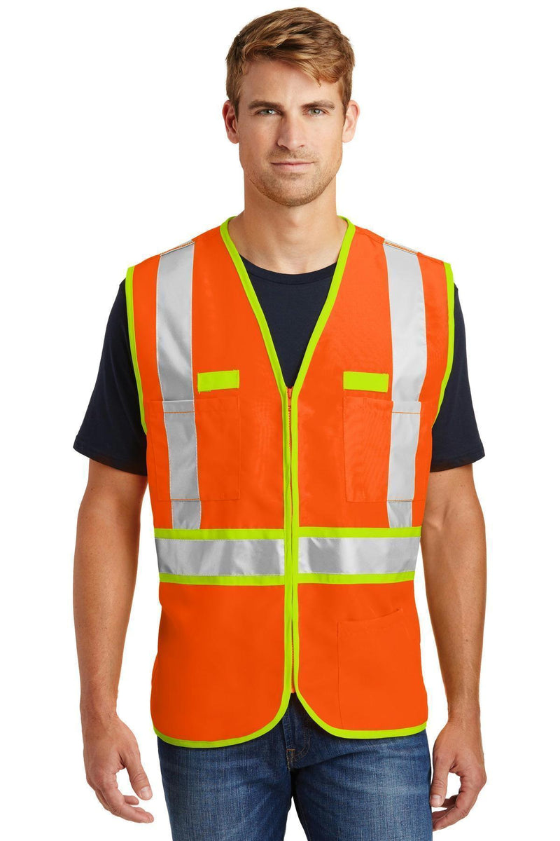 CornerStone- ANSI 107 Class 2 Dual-Color Safety Vest. CSV407-Workwear-Safety Orange/Safety Yellow-4XL-JadeMoghul Inc.