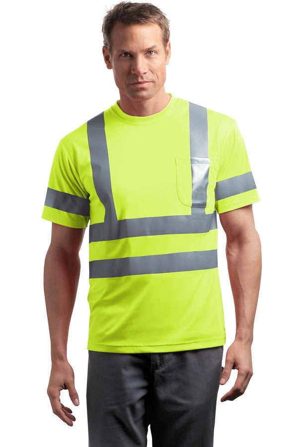CornerStone - ANSI 107 Class 3 Short Sleeve Snag-Resistant Reflective T-Shirt. CS408-Workwear-Safety Yellow-XS-JadeMoghul Inc.