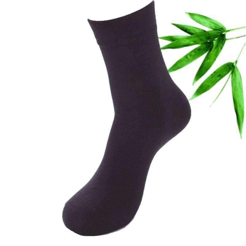 Cotton & Bamboo Fiber Classic Business Men's Socks 5 Pairs-Black-One Size-JadeMoghul Inc.