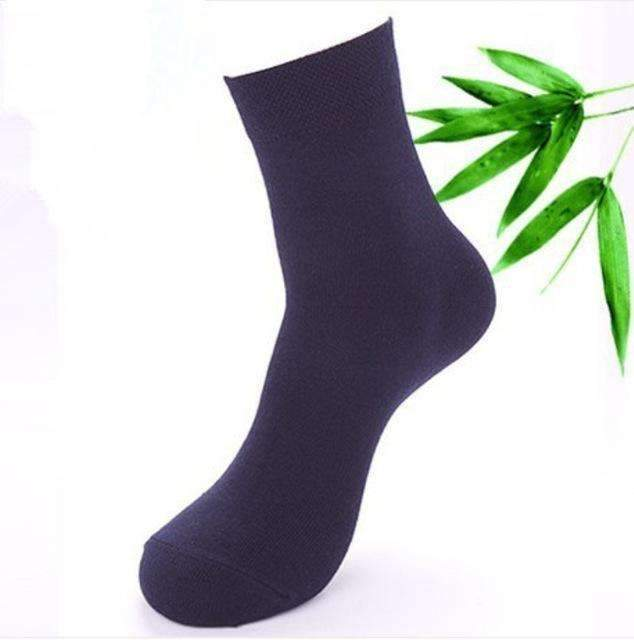 Cotton & Bamboo Fiber Classic Business Men's Socks 5 Pairs-Navy-One Size-JadeMoghul Inc.