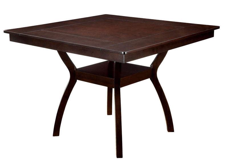 Counter Height Table, Dark Cherry Brown-Dining Tables-Brown-Wood-JadeMoghul Inc.