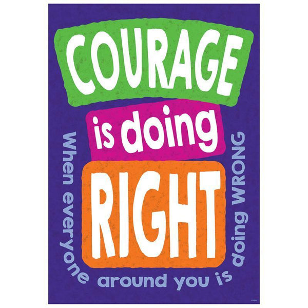 COURAGE IS DOING RIGHT WHEN POSTER-Learning Materials-JadeMoghul Inc.