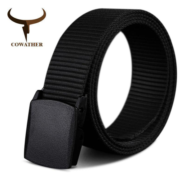 COWATHER 110 130 150 170cm long big size new nylon material mens belt military outdoor tactical male jeans belts for men luxury-black-110cm-JadeMoghul Inc.