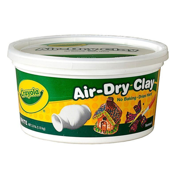 CRAYOLA AIR DRY CLAY 2.5 LBS WHITE-Arts & Crafts-JadeMoghul Inc.