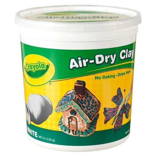 CRAYOLA AIR DRY CLAY 5 LBS WHITE-Arts & Crafts-JadeMoghul Inc.