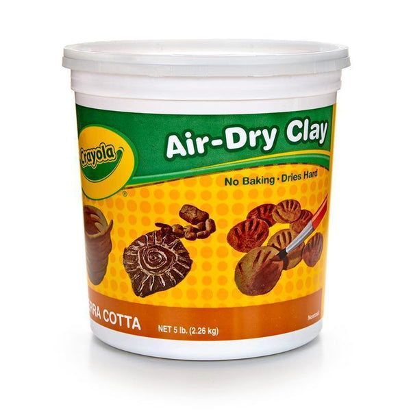 CRAYOLA AIR DRY CLAY 5LB TUB TERRA-Arts & Crafts-JadeMoghul Inc.