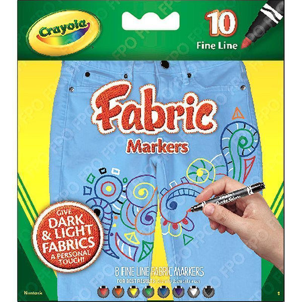 CRAYOLA FINE LINE FABRIC MARKERS-Arts & Crafts-JadeMoghul Inc.