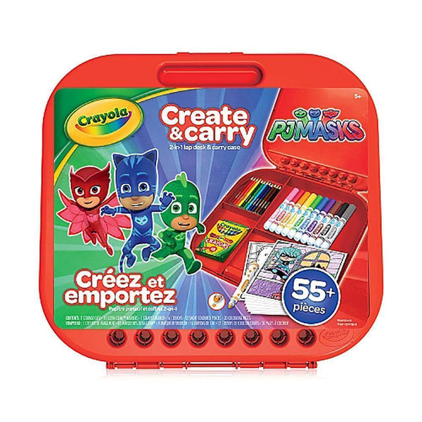 Crayola - PJ Masks Create and Carry Case - More than 55 Pieces-Toy-JadeMoghul Inc.