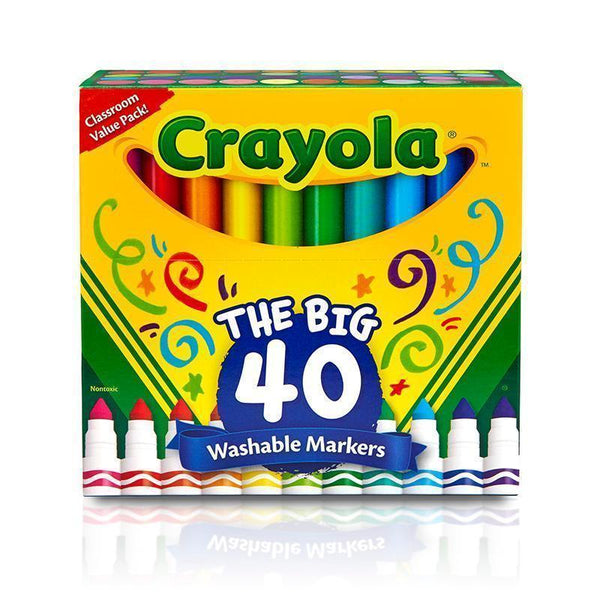 CRAYOLA WASH BROAD LINE MARKER 40PK-Arts & Crafts-JadeMoghul Inc.