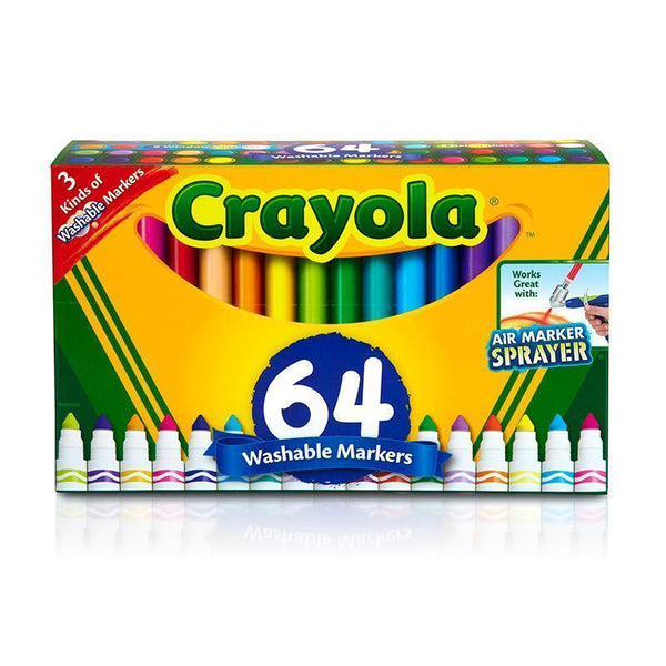 CRAYOLA WASH BROAD LINE MARKER 64PK-Arts & Crafts-JadeMoghul Inc.