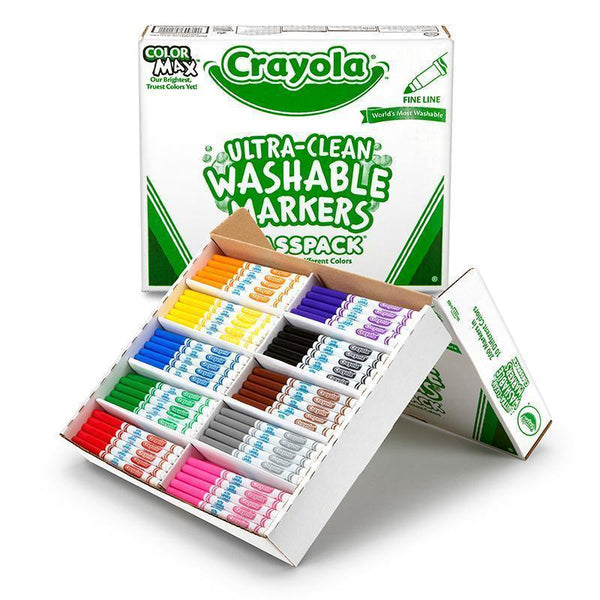 CRAYOLA WASHABLE CLASSPACK 10 ASST-Arts & Crafts-JadeMoghul Inc.
