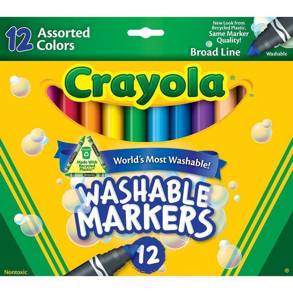 CRAYOLA WASHABLE MARKERS 12CT ASST-Arts & Crafts-JadeMoghul Inc.