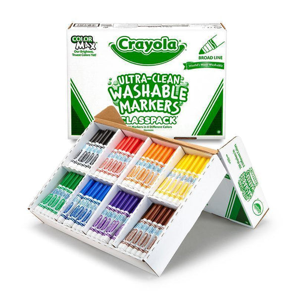 CRAYOLA WASHABLE MARKERS CLASSPACK-Arts & Crafts-JadeMoghul Inc.