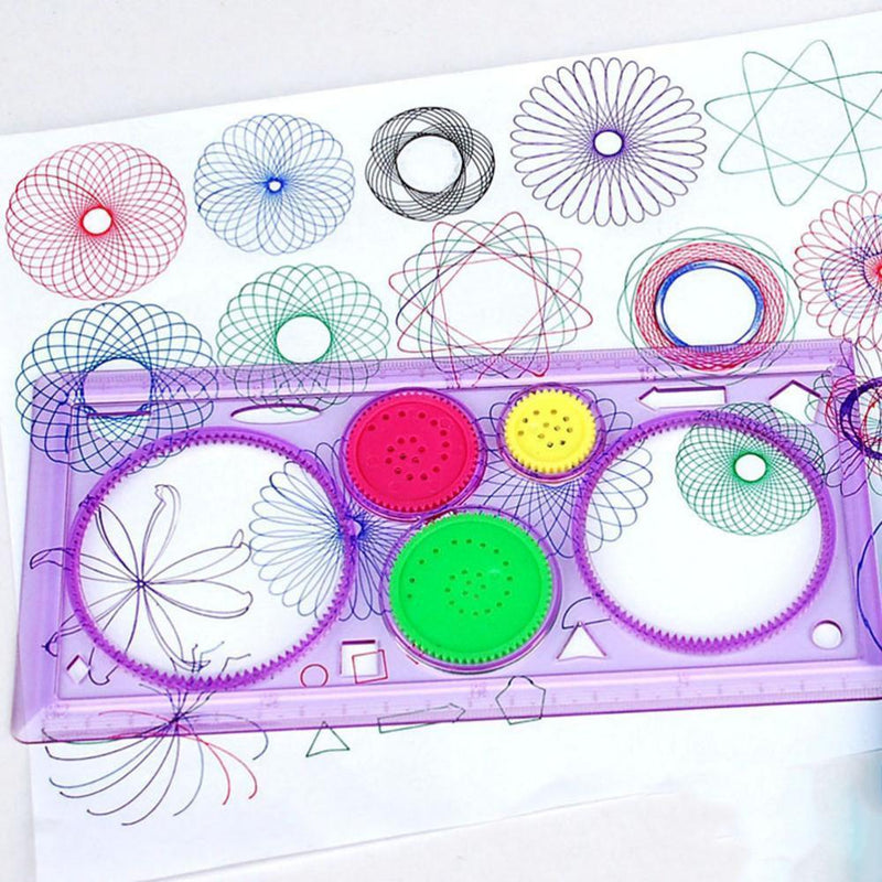 Creative Gift Spirograph Geometric Ruler Drafting Tools Stationery For Students Drawing Toys Set Learning Art Sets For Children--JadeMoghul Inc.