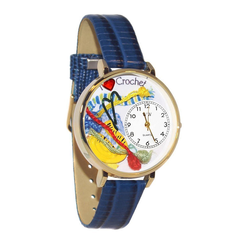 Crochet Watch in Gold (Large)-Watch-JadeMoghul Inc.