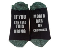 Custom wine socks If You can read this Bring Me a Glass of Wine Socks autumn spring fall 2017 new arrival-11-JadeMoghul Inc.